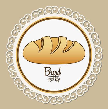 homemade bread: Illustration of classic bread, bakery icon, vector illustration