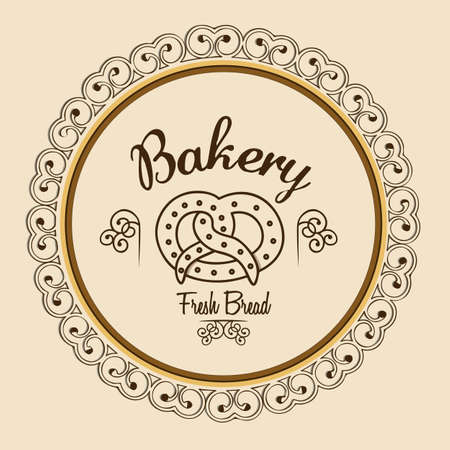 Illustration of pretzel and food, bakery icon, vector illustration Stock Vector - 17002662