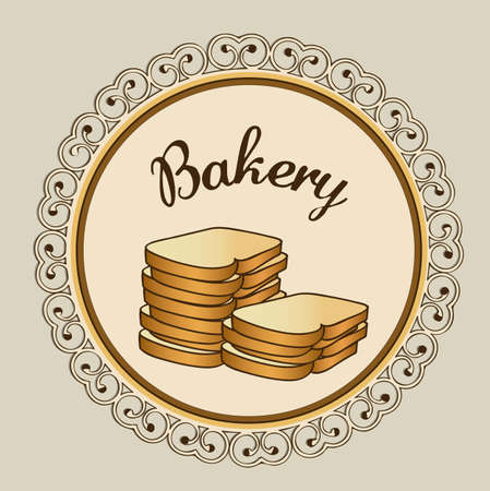 Illustration of chopped bread, bakery icon, vector illustration Vector
