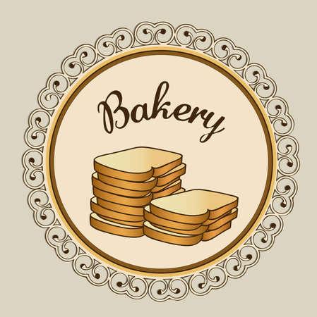 Illustration of chopped bread, bakery icon, vector illustration Stock Vector - 17002664