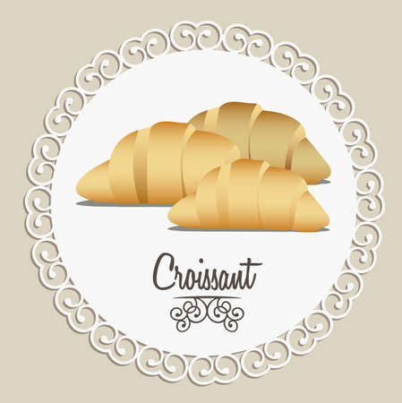 Illustration of croissant and food, bakery icon, vector illustration Stock Vector - 17002514