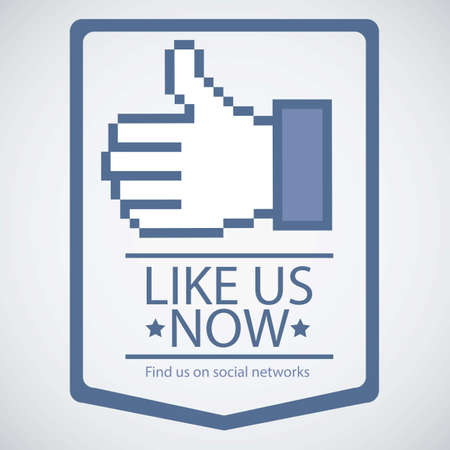 like icon: Illustration icon social networks, like us Icons, vector illustration