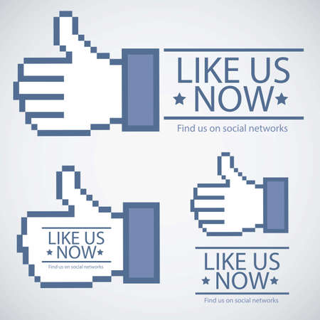 to like: Illustration icon social networks, like us Icons, vector illustration