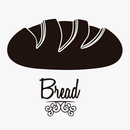 produits c�r�aliers: Illustration de pain classique, boulangerie ic�ne, illustration vectorielle