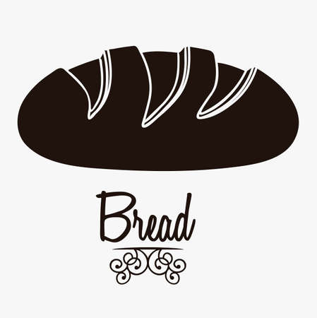 necessity: Illustration of classic bread, bakery icon, vector illustration