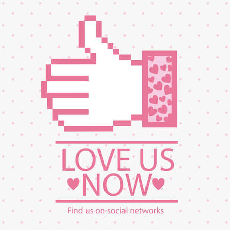 Illustration icon social networks, like us  or love us Icons, vector illustration Vector