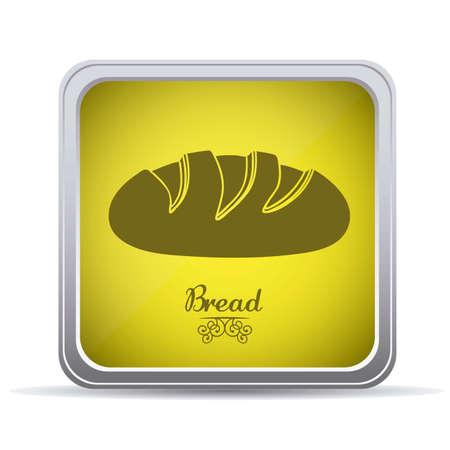 crusty: Illustration of classic bread, bakery icon, vector illustration