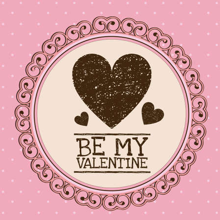 Illustration be my valentine. Valentines day celebration, vector illustration Vector