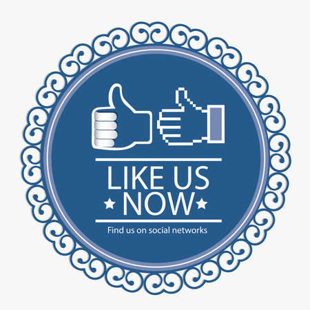 Illustration icon social networks, like us Icons, vector illustration Vector