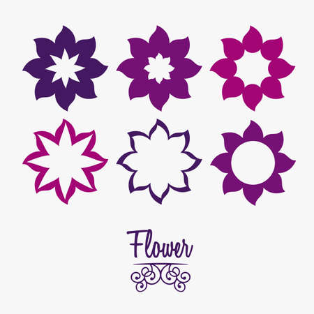 Illustration flowers icons, spring and valentines day, vector illustration Stock Vector - 17002302