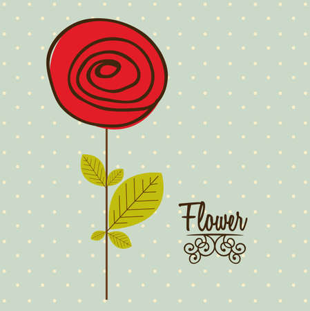 Illustration flowers icons, spring and valentines day, vector illustration Stock Vector - 17002437