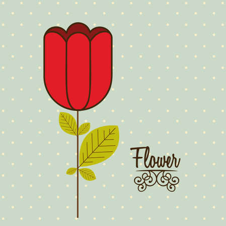 Illustration flowers icons, spring and valentines day, vector illustration Stock Vector - 17002439