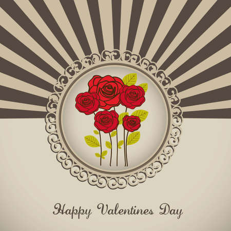 Illustration flowers icons, roses and valentines day, vector illustration Stock Vector - 17002676