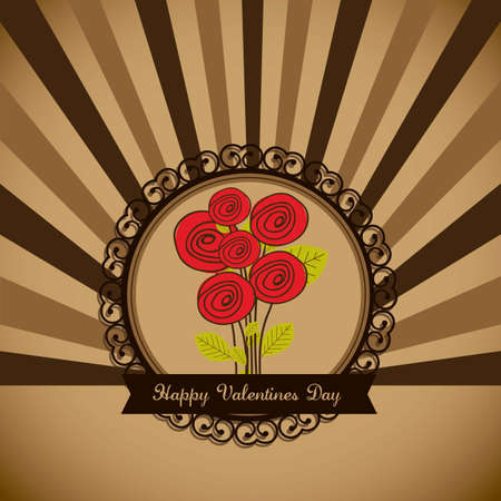 Illustration flowers icons, roses and valentines day, vector illustration Stock Vector - 17002643
