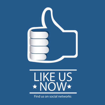 like icon: Illustration icon social networks, Facebook Icons, vector illustration