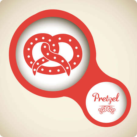 Illustration of pretzel and food, bakery icon, vector illustration Stock Vector - 17001792