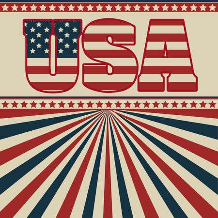 Background Illustration Patt USA in vintage style, vector illustration Stock Vector - 17352981