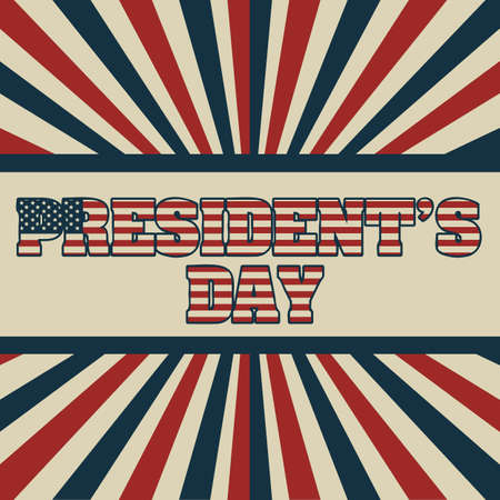 Poster illustration of President's Day in the United States of America in vintage style, vector illustration Stock Vector - 17352986