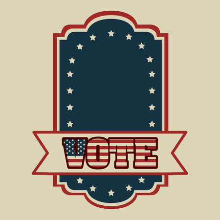 patrotismo: Poster illustration of votes of the United States of America in vintage style, vector illustration