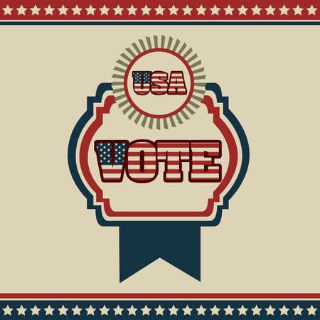 Poster illustration of votes of the United States of America in vintage style, vector illustration Stock Vector - 17352985