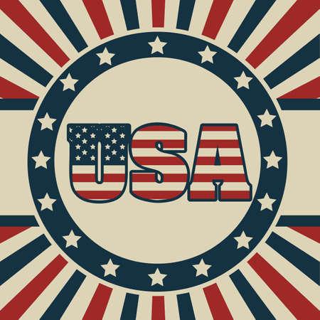Background Illustration Patriot USA in vintage style, vector illustration Stock Vector - 17352975