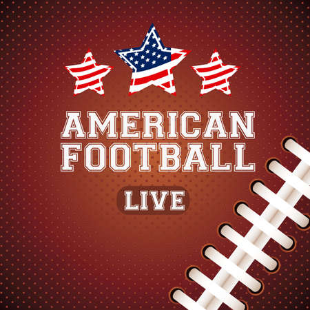 football american: Illustration of American football game, sports and entertainment, vector illustration
