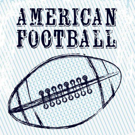 Illustratie van American football spel, sport en entertainment, vectorillustratie Vector Illustratie