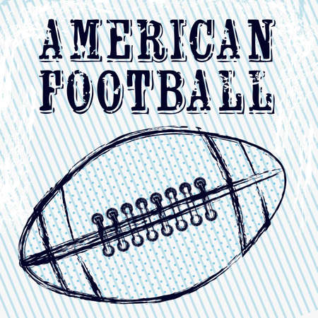 Illustratie van American football spel, sport en entertainment, vectorillustratie