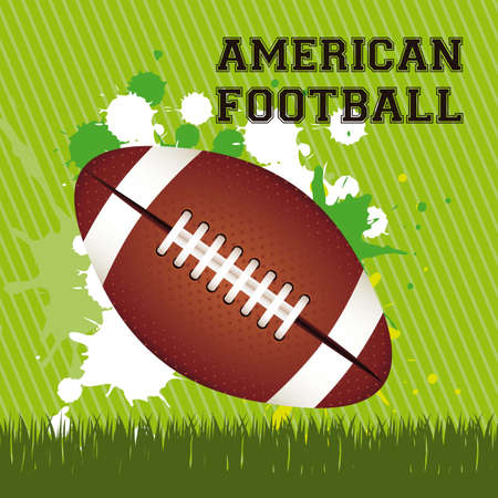 Illustration of American football game, sports and entertainment, vector illustration Stock Vector - 17353021