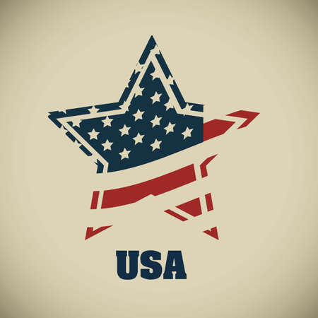 president of the usa: Background Illustration Patriot USA in vintage style, vector illustration