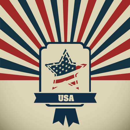 Background Illustration Patriot USA in vintage style, vector illustration Stock Vector - 17352848