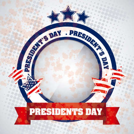presidential: Poster illustration of Presidents Day in the United States of America, vector illustration