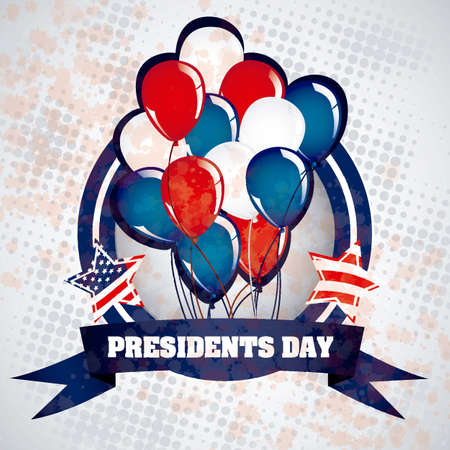 patrotismo: Poster illustration of Presidents Day in the United States of America , vector illustration