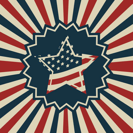 Background Illustration Patriot USA in vintage style, vector illustration Stock Vector - 17352844