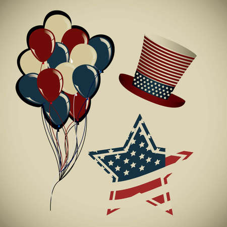 patrotismo: Background Illustration Patriot USA in vintage style, vector illustration