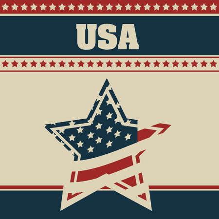 Background Illustration Patriot USA in vintage style, vector illustration Stock Vector - 17352849