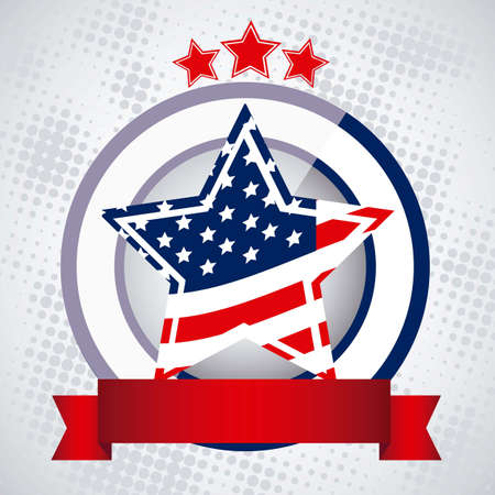 patrotismo: Background Illustration Patriot of the United States of America , vector illustration