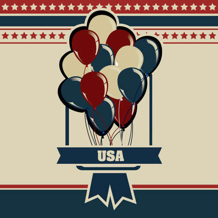Background Illustration Patriot USA in vintage style, vector illustration Stock Vector - 17352856
