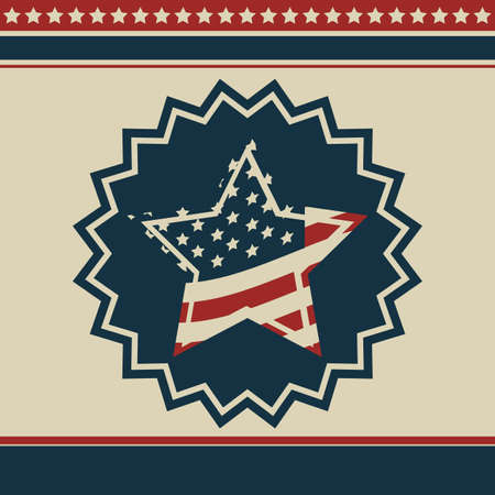 Background Illustration Patriot USA in vintage style, vector illustration Vector