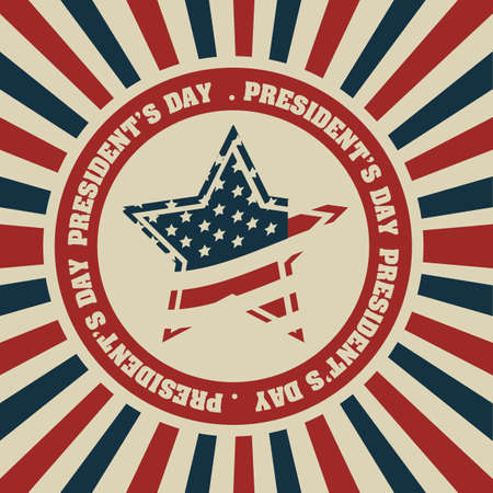 Poster illustration of President's Day in the United States of America in vintage style, vector illustration Stock Vector - 17352852