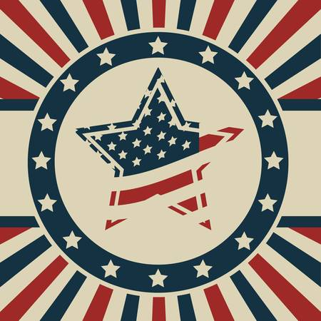 Background Illustration Patriot USA in vintage style, vector illustration Stock Vector - 17352847