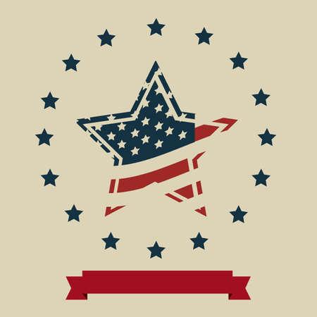 Background Illustration Patriot USA in vintage style, vector illustration Stock Vector - 17352863