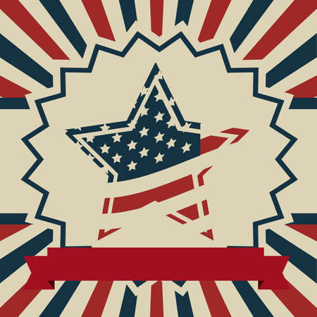 Background Illustration Patriot USA in vintage style, vector illustration Stock Vector - 17352845
