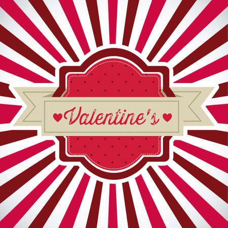 Poster illustration of Valentine's Day, the day of love and friendship, vector illustration Stock Vector - 17352963