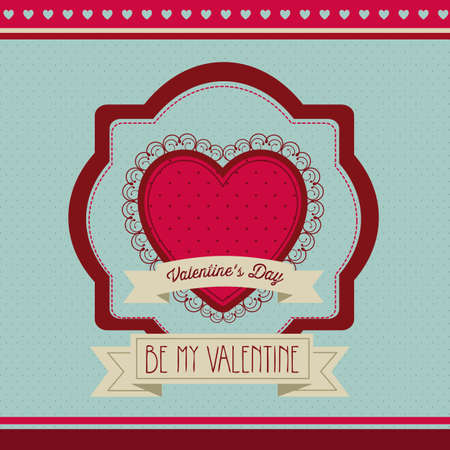 Poster illustration of Valentine's Day, the day of love and friendship, vector illustration Stock Vector - 17353017