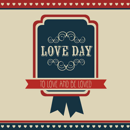 Poster illustration of the day of love and friendship, vector illustration Vector