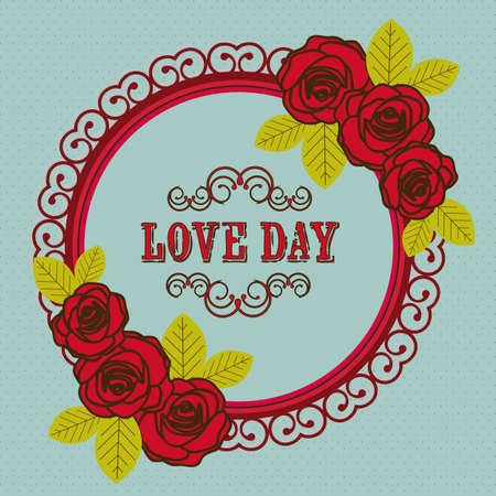 Poster illustration of the day of love and friendship, vector illustration Stock Vector - 17353092