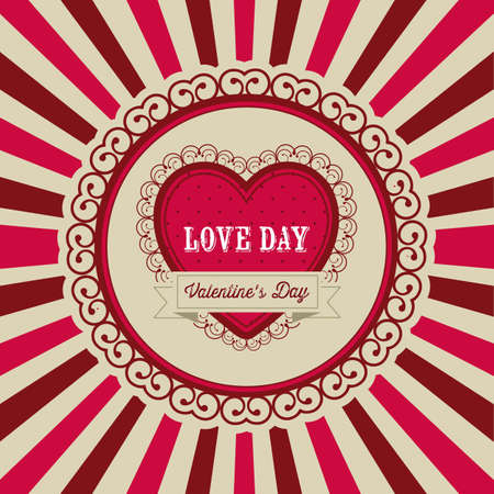 dedicate: Poster illustration of Valentines Day, the day of love and friendship, vector illustration Illustration