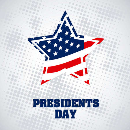 Poster illustration of President's Day in the United States of America, vector illustration Stock Vector - 17352964