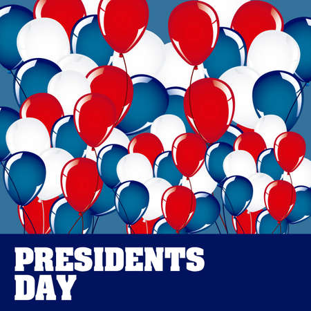 Poster illustration of President's Day in the United States of America, vector illustration Vector
